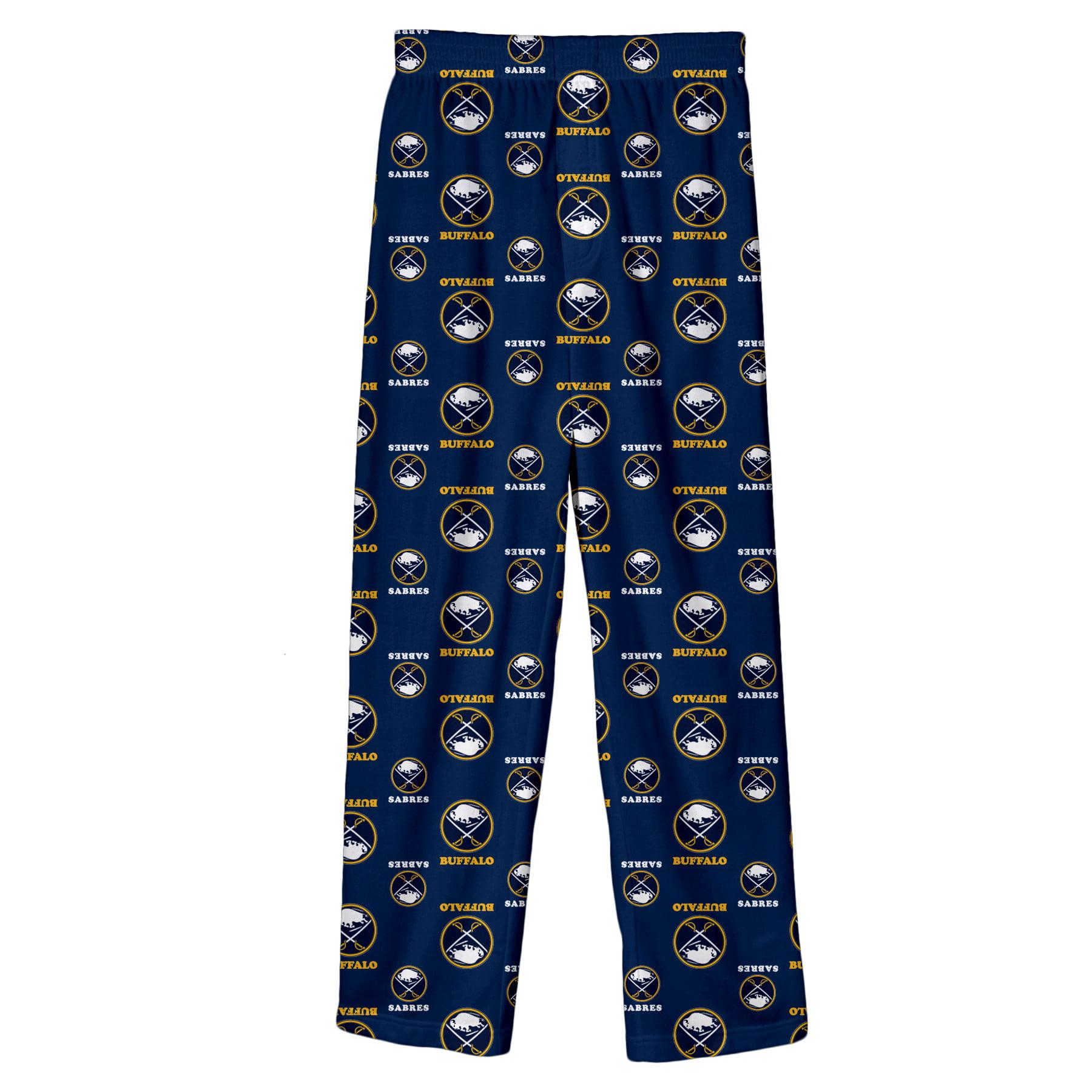 Buffalo Sabres Youth Team Logo Printed Pajama Pants - Navy