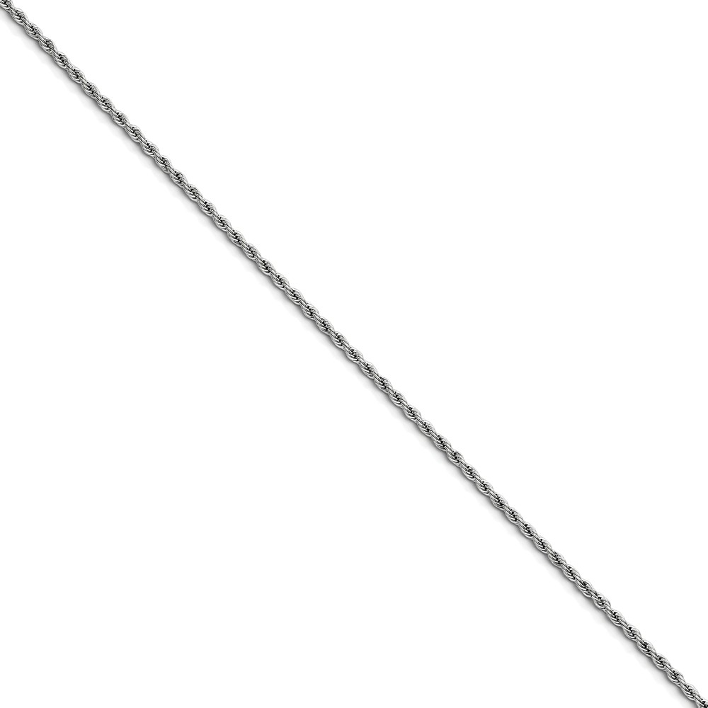 Stainless Steel 2.3mm 30in Rope Chain (30in long)