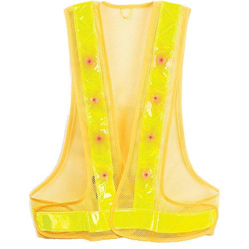 Maxsa Innovations X-Large Reflective Safety Vest with Emergency Preparedness 16 LED Lights