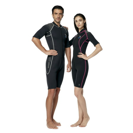 Suit Rentals Edmonton (3mm Nylon II Neoprene Front Zip Rental Shorty with Super Stretch Panels (Men's)