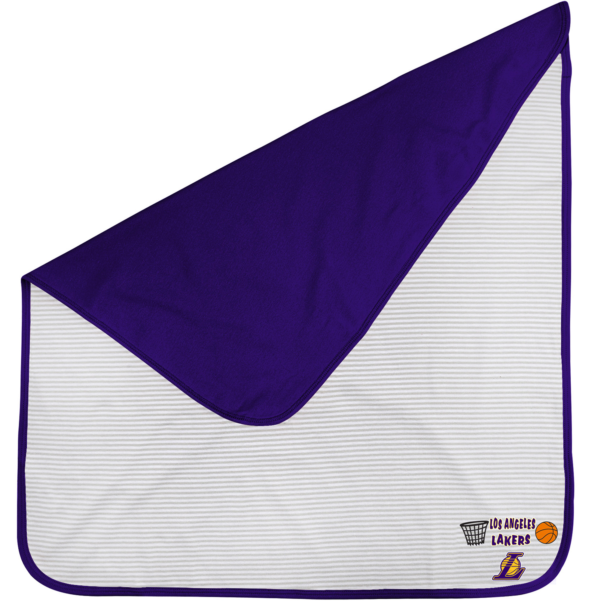 Los Angeles Lakers Infant Lil Kicker Baby Blanket - Purple - No Size