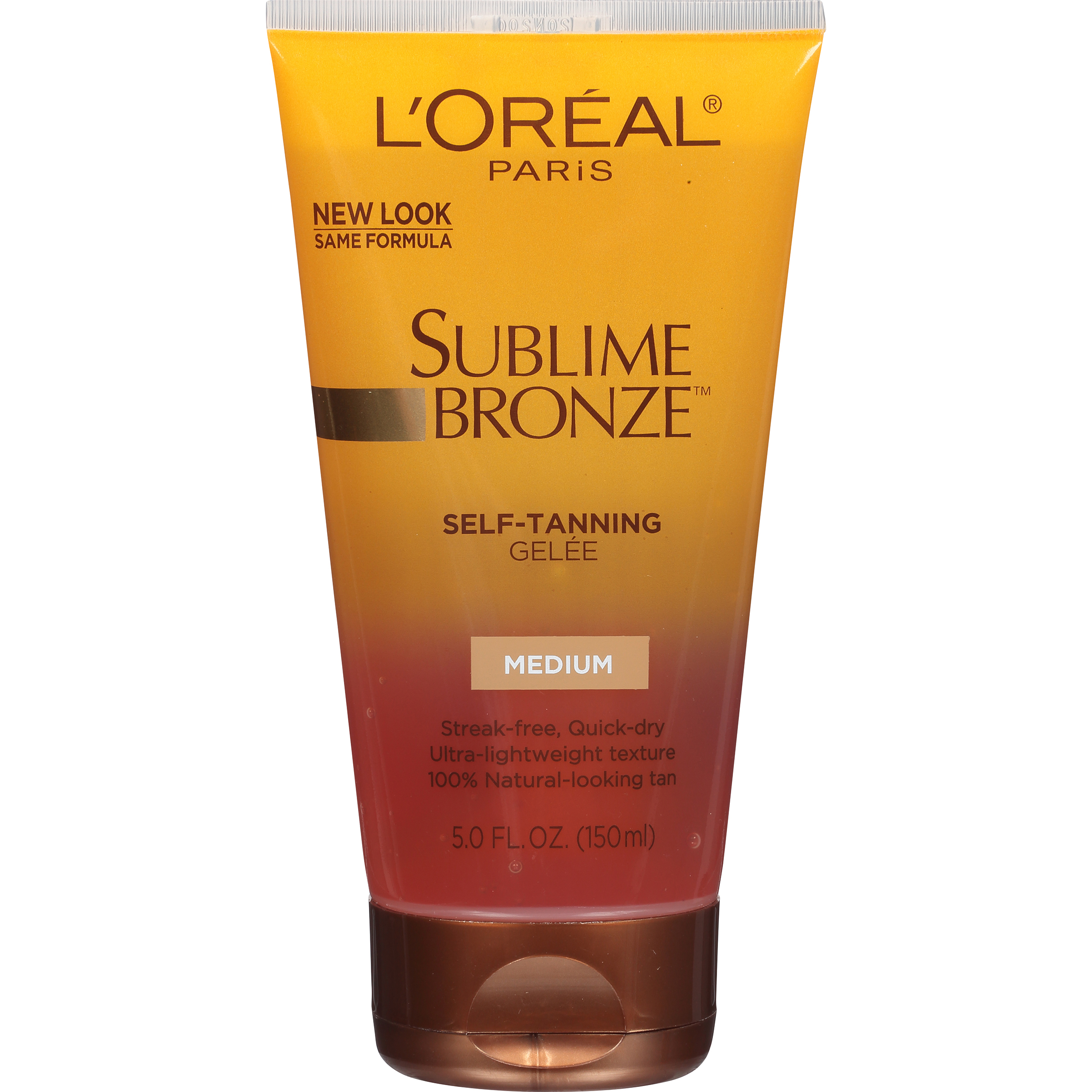 L'Oreal Paris Dermo-Expertise Sublime Bronze Self-Tanning Gelee, Medium-Natural , 5 fl oz