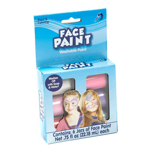 Kids Craft Face Paint, Pastel Colors, 6pk