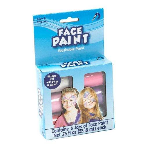 Kids Craft Face Paint, Pastel Colors, 6 pk