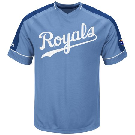 "Kansas City Royals Majestic MLB ""Tandem"" Cooperstown V-Neck Mens Fashion Jersey by"