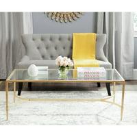 "Safavieh Antwan 50"" Width Iron Cofee Table, Multiple Colors"