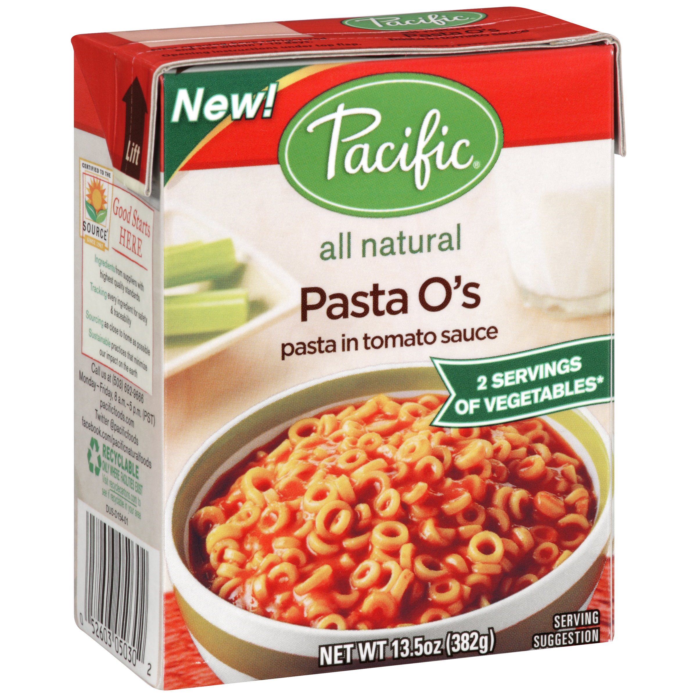 Pacific Foods Of Oregon Pacific  Pasta O's, 13.5 oz