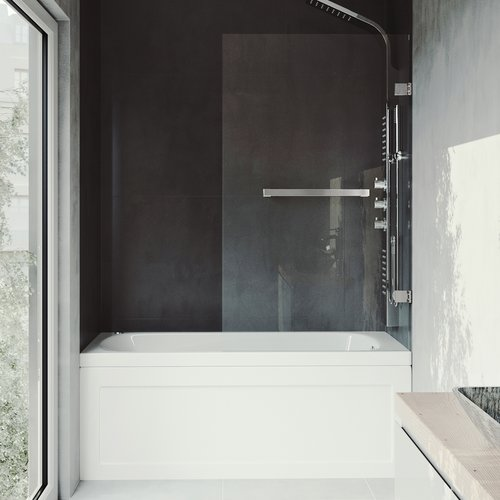 Vigo Rialto 34'' x 57.38'' Hinged Bathtub Door