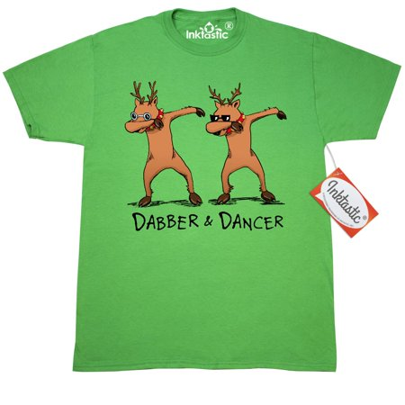 Inktastic Dabber And Dancer T-Shirt Christmas Lean Dab Iheartmemphis Parody Turnup Kid Hip Hop Reindeer Funny Holidaydance Trend Hashtag Rap Song Music Mens Adult Clothing Apparel Tees