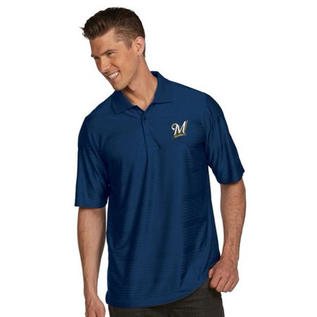 Antigua Polo Shirt (Milwaukee Brewers Antigua Illusion Polo - Navy)