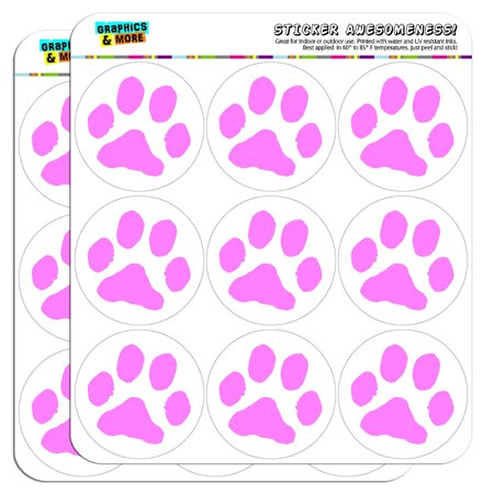 Paw print pink 2 scrapbooking crafting stickers
