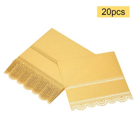 20pcs Name Card Wedding Celebration Birthday Party Table Card Seats Decoration--Gold - Celebration Fl Halloween Party