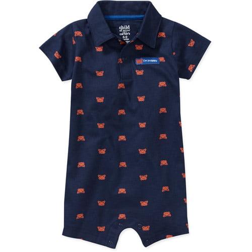 Child of Mine by Carters Newborn Boys' Crab Polo Romper