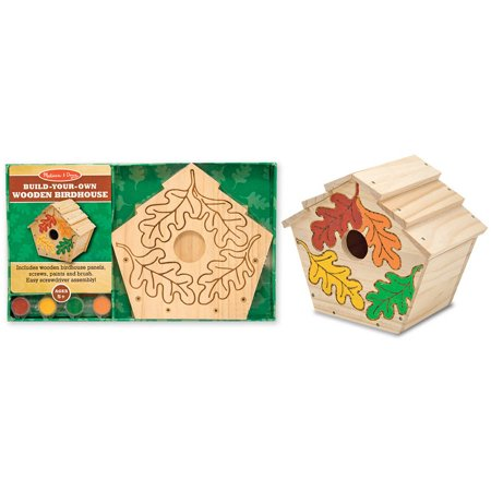 Melissa & Doug Build-Your-Own Wooden Birdhouse Craft Kit (Melissa And Doug Musical Instruments)
