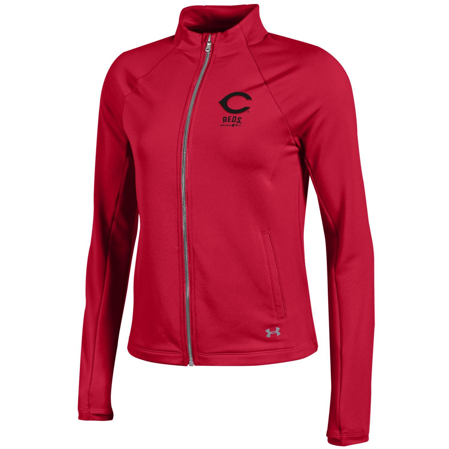 Cincinnati Reds Under Armour Women's Fleece Full-Zip Jacket Red by Gear For Sports/Under Armour