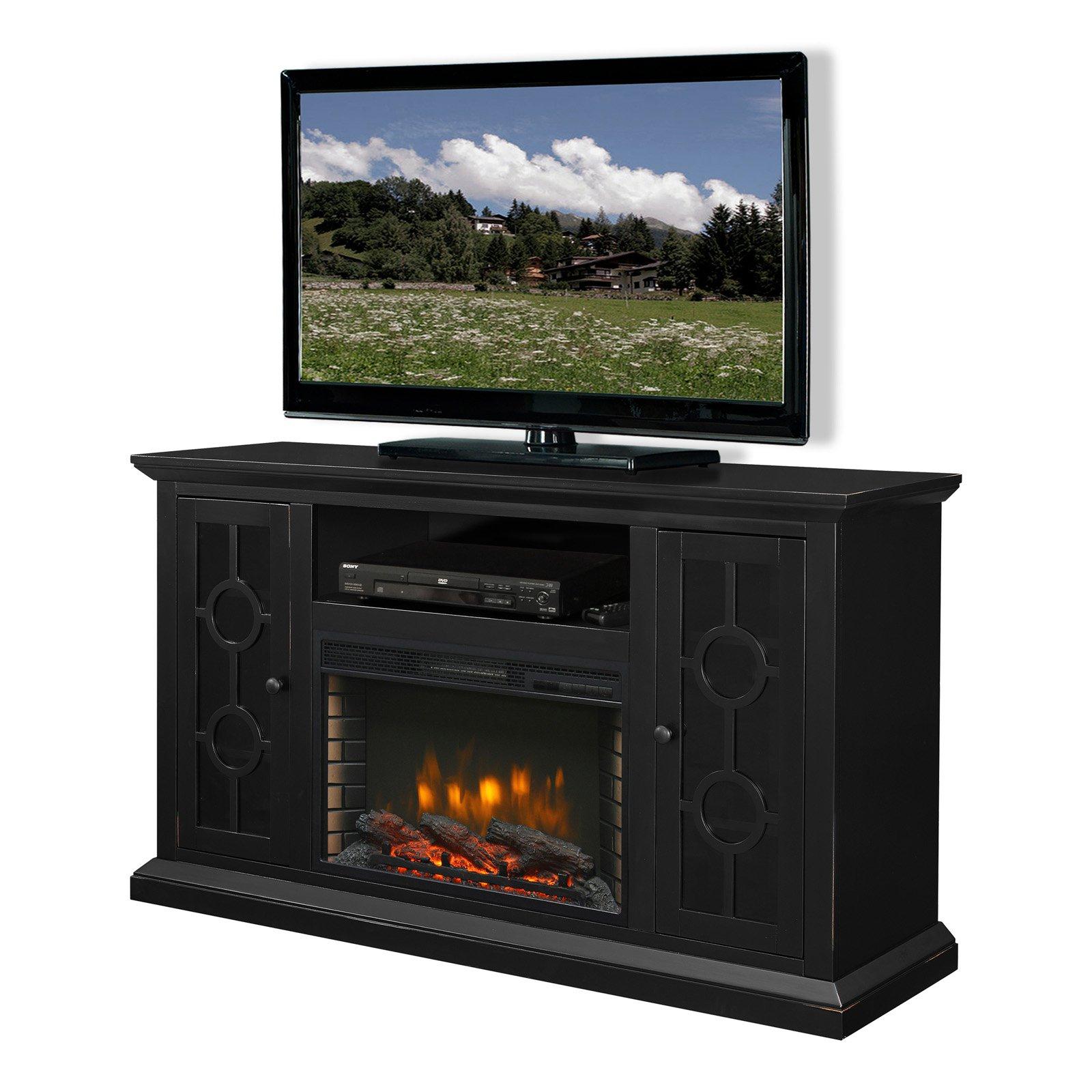 "Muskoka Ashby 58"" Media Electric Fireplace Aged Black"