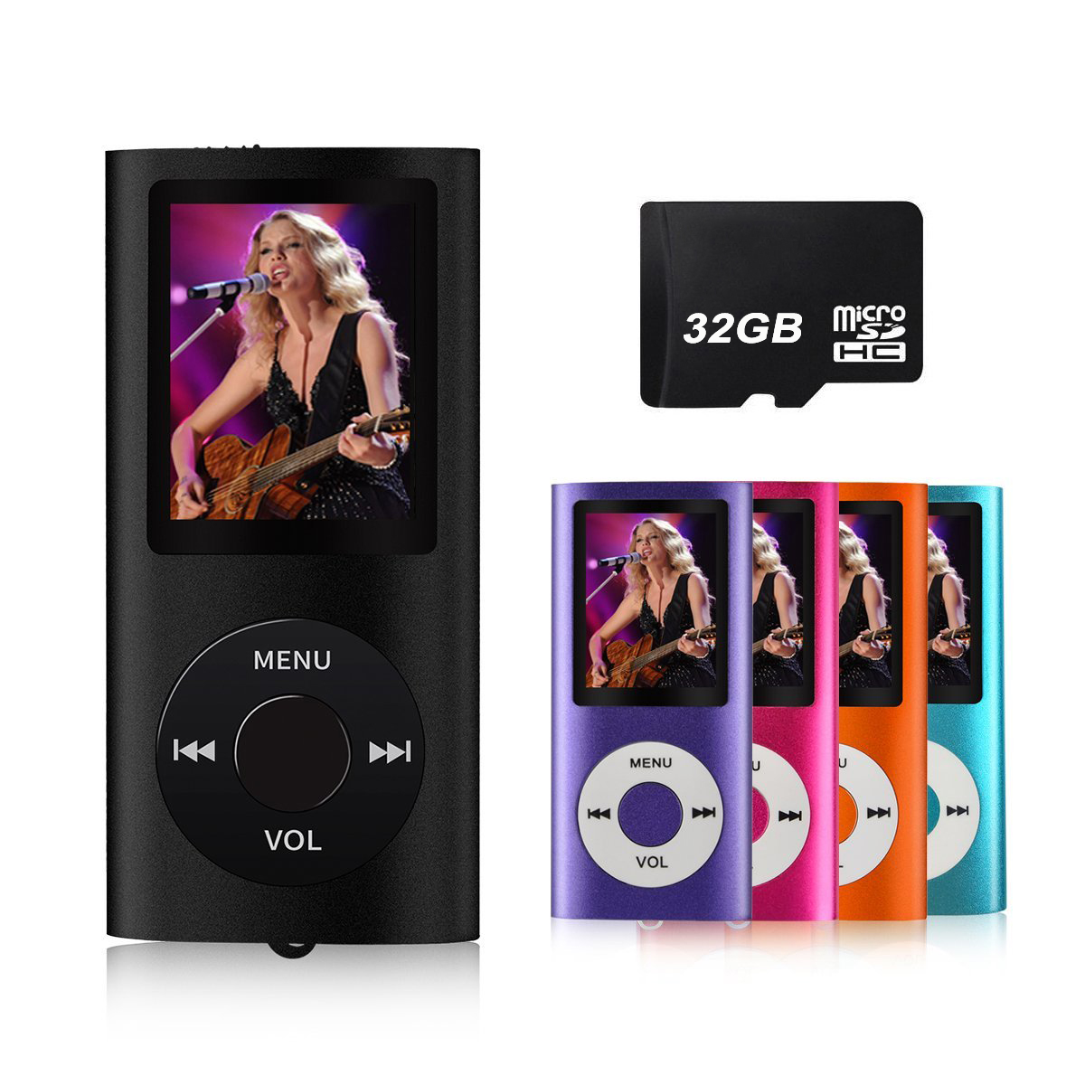 Digital Compact and Portable 32Gb MP3 / MP4 Player with Photo Viewer, E-Book Reader and Voice Recorder and FM Radio Video Movie