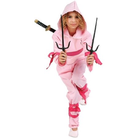 Pink Ninja Girl Costume - Girls Pink Ninja Costume