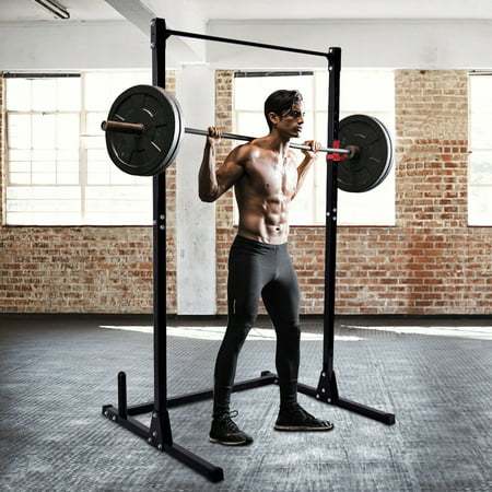 Costway Strength Power Lifting Rack Squat Bench Deadlift Curl Pull Up Cage Weight Stand