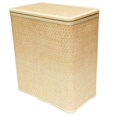 Ecru Wicker Hamper W Wicker Lid Walmart Com
