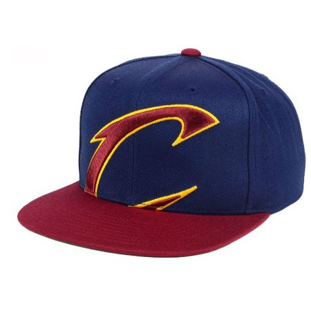 4623bf8be3a Cleveland Cavaliers Mitchell and Ness NBA Cropped XL Logo Snapback Cap -  Walmart.com