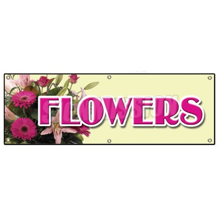 FLOWERS BANNER SIGN floral flower shop signs florist roses fresh (Italy Florist)
