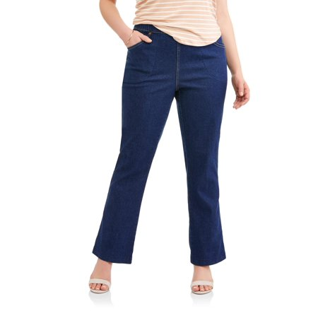 74c18d69b13 Just My Size - Women s Plus-Size 4-Pocket Stretch Boot cut Pull-On ...