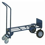 wesco 210140 steel 2-in-1 deluxe industrial hand truck, 3.5 caster solid rubber wheels, 1000-lb. load capacity, 20-1/2 width x 53 height x 19 depth