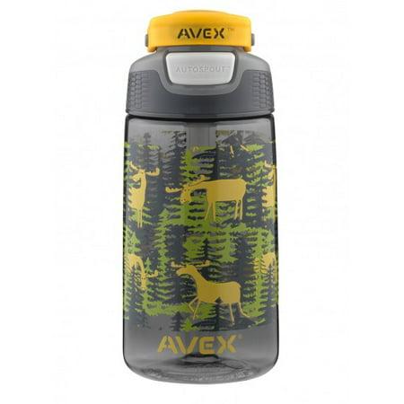 Water Bottles For Kids (16 OZ. FREERIDE AUTOSEAL® KIDS WATER BOTTLE GRAY MOOSE CAMO)