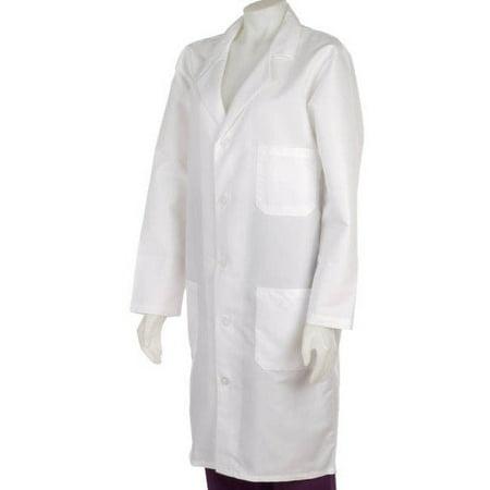 Medline Ladies Lab Coat (Medline  Unisex White Knee Length Lab Coat)