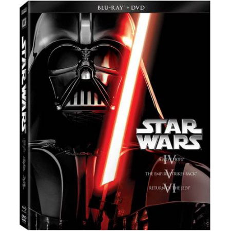 Star Wars: The Original Trilogy - Episode IV- A New Hope / Episode V- The Empire Strikes Back / Episode VI- Return Of The Jedi (Blu-ray + DVD) for $<!---->