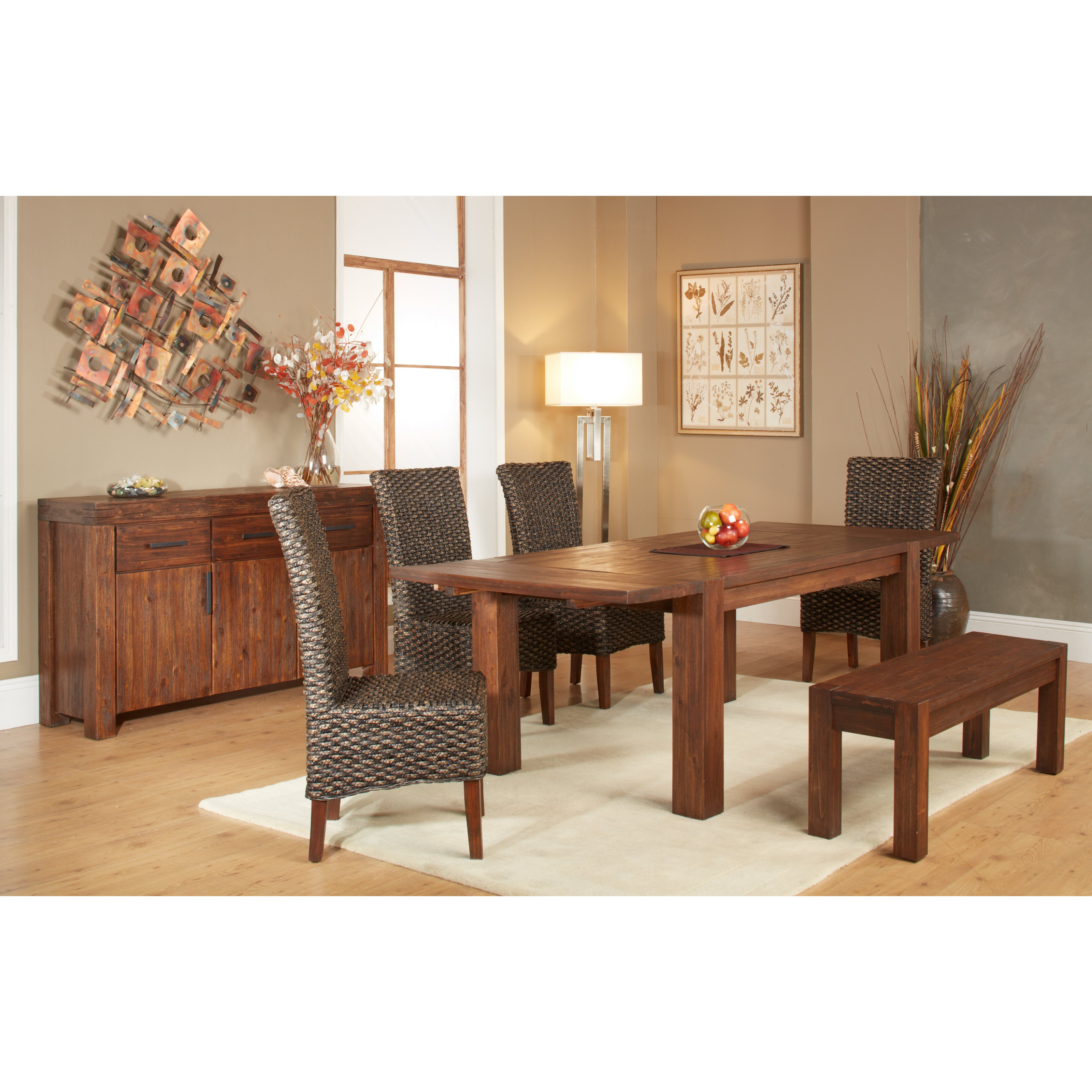 Modus 6 Piece Meadow Dining Table Set with Bench by Modus Furniture International