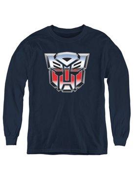Transformers - Autobot Airbrush Logo - Youth Long Sleeve Shirt - Medium