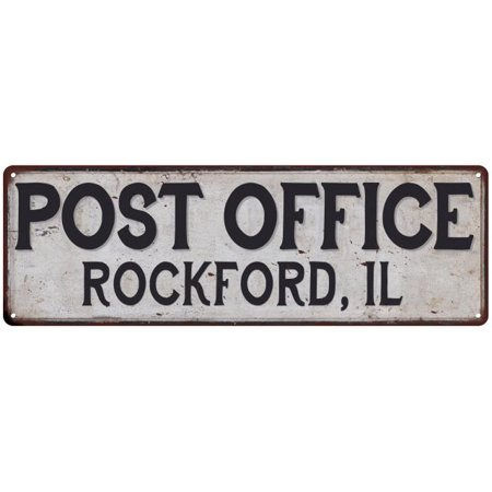 Rockford, Il Post Office Personalized Metal Sign Vintage 6x18 106180011165 (Party City Rockford Il)