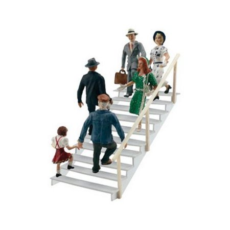 Woodland Scenics HO Scale Scenic Accents Figures/People Set Taking Stairs (6)