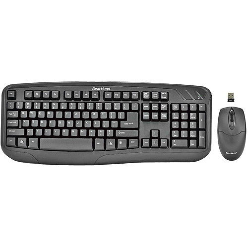 Gear Head Wireless Keyboard With Optical Mouse