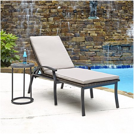 Home styles laguna chaise lounge chair and accent table for Accent chaise lounge