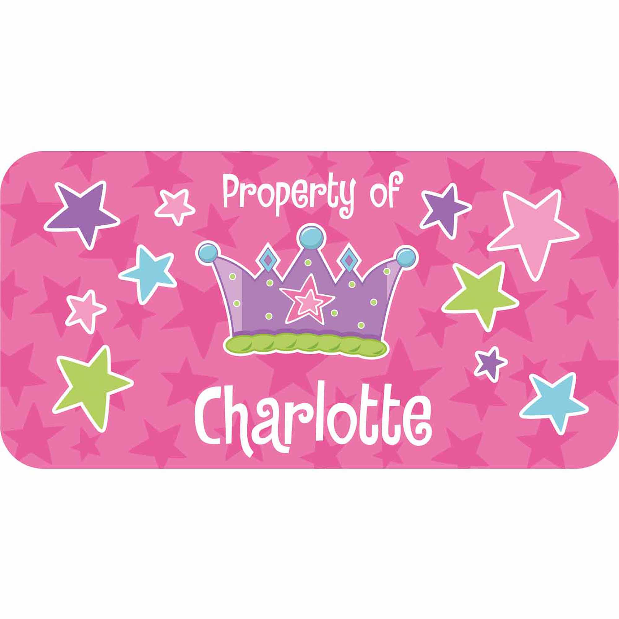 Personalized Kids Property Labels, Princess