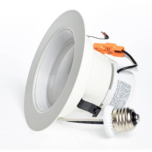 "LUX LED 4"" Recessed Light LED Retrofit Kit, E26 12W (75W Equiv), Dimmable, 3000K, 850 Lumens"