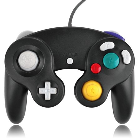 GameCube Controller Nintendo GC and Wii Compatible GameCube Video Game Console Remote Classic Wired Gaming Joystick Gamepad Joypad NGC Replacement Accessories (Black) (Gamecube Joystick)