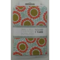 Emma & Mila Wild Flowers Collection Cotton 44'' Pre-Cut Gerbers Fabric, per Yard