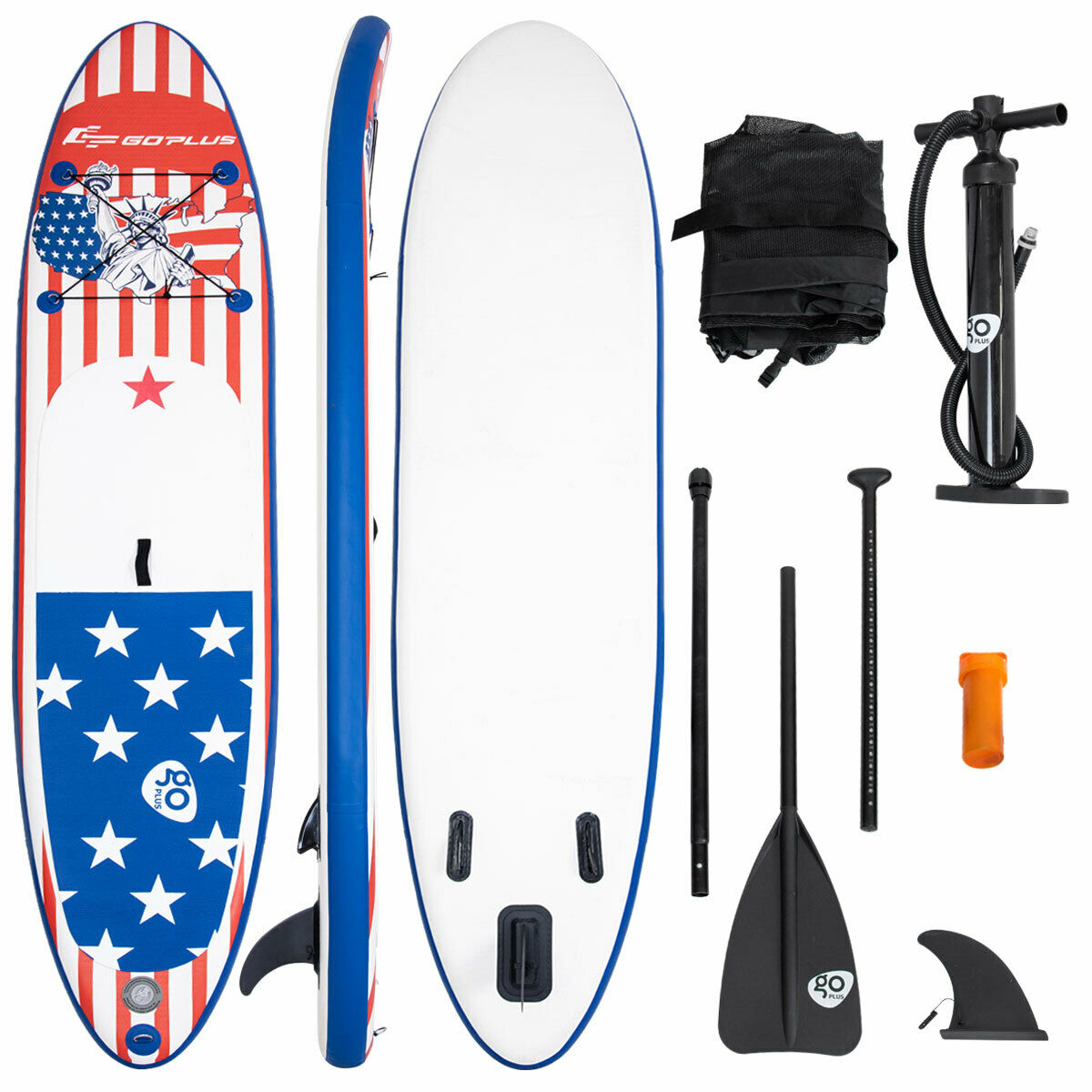 Costway Goplus 11' Inflatable Stand Up Paddle Board SUP W/ Fin Adjustable Paddle Backpack Sport