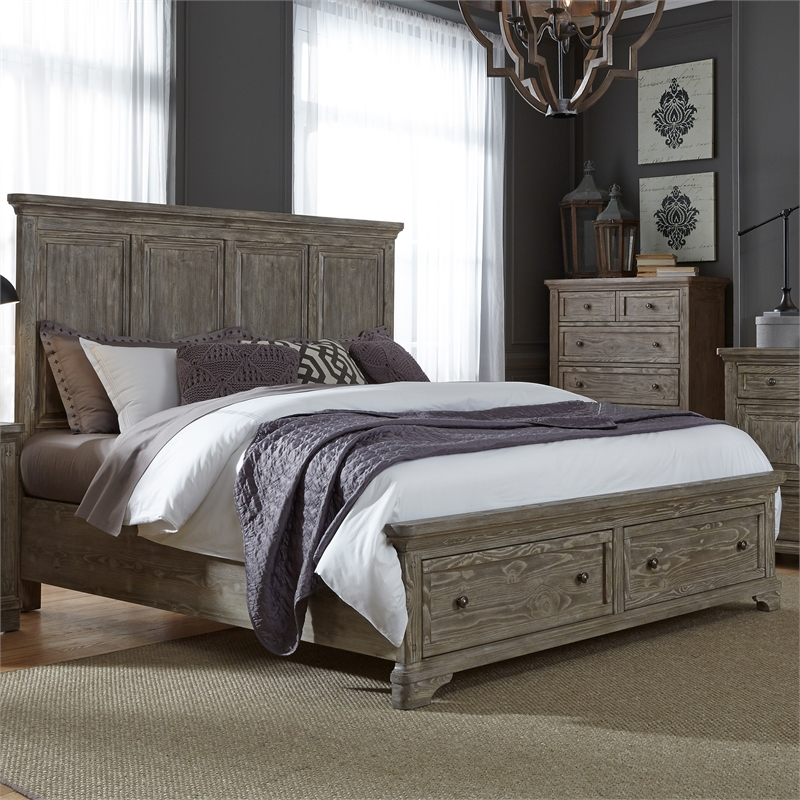 Liberty Furniture Highlands Queen Storage Bed - image 2 de 6