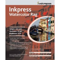 "Inkpress Watercolor Texture Matte Archival Cotton Rag Inkjet Paper, 15 mil, 200 gsm, 8.5x11"", 25 Sheets"