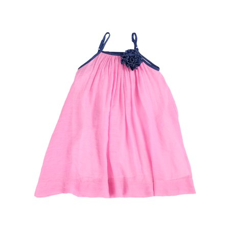Soft Gauze-Cotton Moorea-Tropical A-Line Resort Dress for Toddlers and Girls (Guava Pink, 2T) - Princess Dress 2t