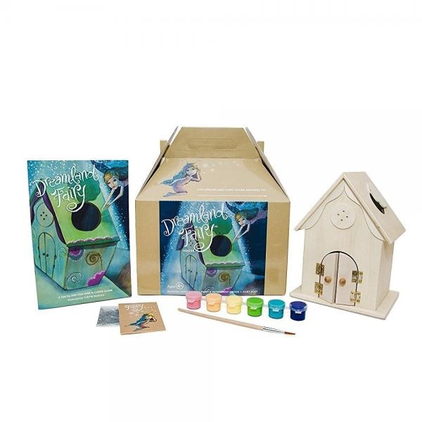 Dreamland Fairy House Craft Kit with book, fairy dust and paint Let Her IMagination Sparkle through Story &... by Dreamland Fairy