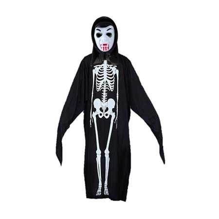 Skeleton Masks For Halloween (Dracula Mask with Skeleton Robe Halloween Costume for Men by Shape)