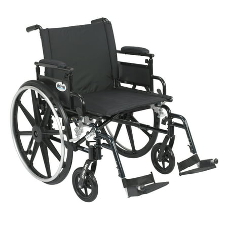 Drive Medical Viper Plus GT Wheelchair with Flip Back Removable Adjustable Desk Arms, Swing away Footrests, 22