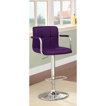 Corfu Contemporary Bar Stool With Arm In Purple Pu Walmartcom