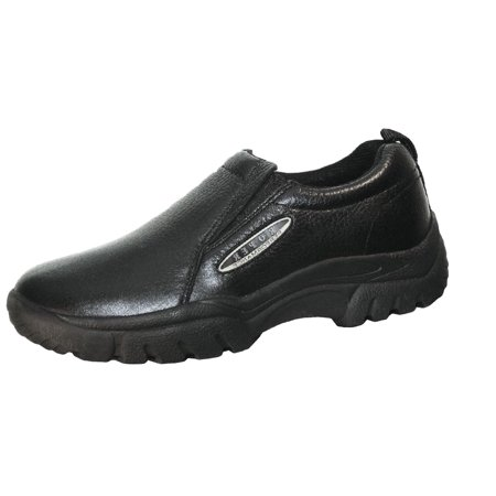 Roper Western Shoes Mens Leather Slip On Black 09-020-0601-0208 BL